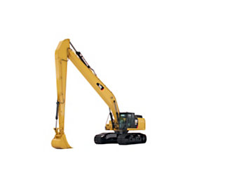 Integrated Design for the Cat® 340F Long Reach and 352F Long Reach Excavators Provides Ample Digging and Lifting Capability at Extended Distances