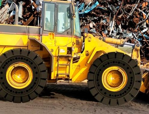 Galaxy LHD 510 SDS: The new solid tire for wheel loaders