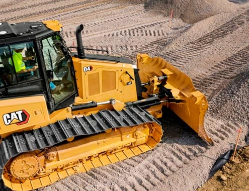 New Cat® D4 Dozer with improved sight lines