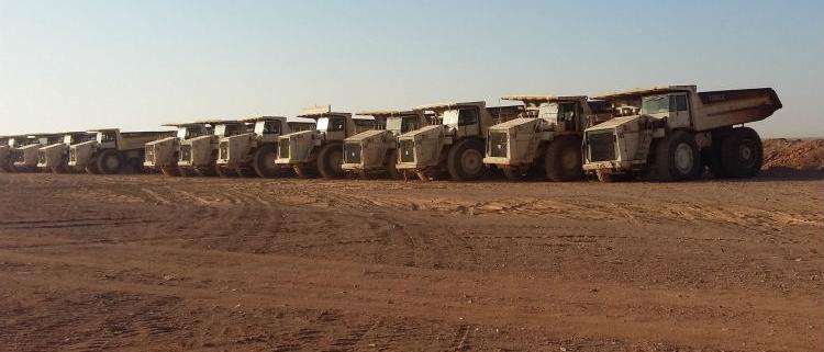 50 trucks mine phosphate in Jordan