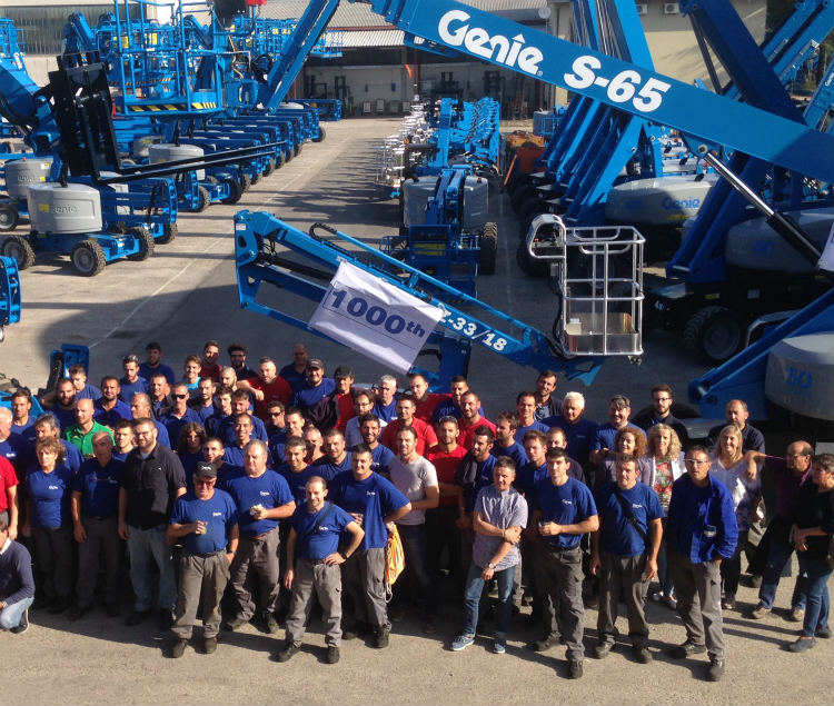 Genie hits 1000th unit production Milestone at Umbertide Plant, Italy