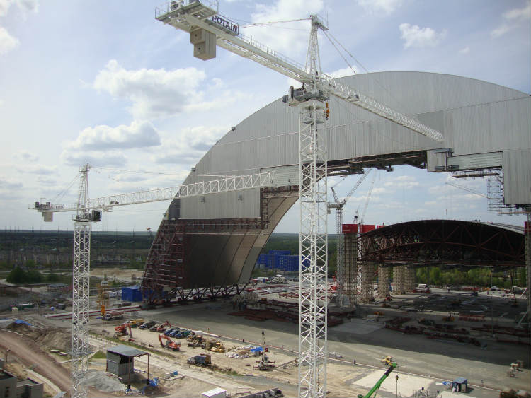 Manitowoc Potain cranes: 10 years of lifting at landmark Chernobyl site