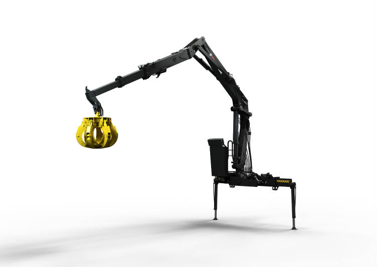Hiab launches new JONSERED 1500RZ recycling crane at the Pollutec exhibition, France