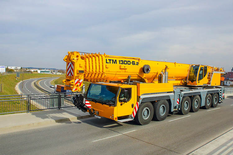 Liebherr presented LTM 1300-6.2 Mobile Crane at Bauma China
