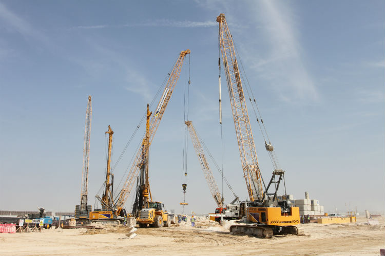 Liebherr and Dutco Balfour Beatty deliver 20% productivity boost on piling for Expo Village