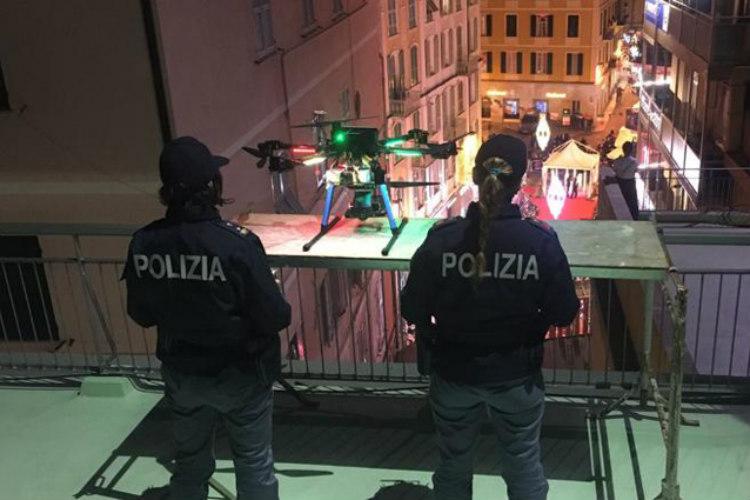 FlyTop Police drone FlyNovex controls the sky over Sanremo Music Festival