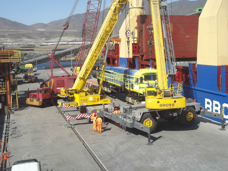 Grove rough-terrain cranes improve efficiency at Chilean pellet plant