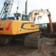 Liebherr crawler excavator R 926 in action on Texel