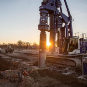 Liebherr LB 24-270 Carries out Deep Foundation Work in Gernsheim Port