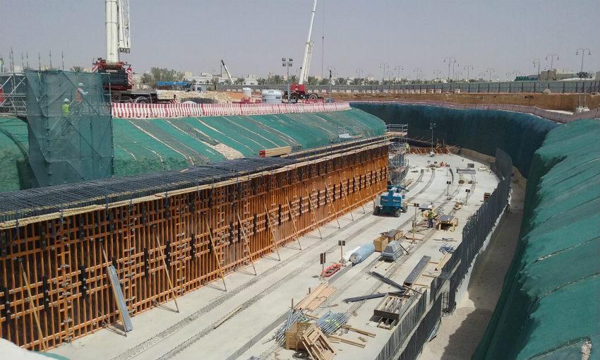 ULMA Construction provided comprehensive formwork and scaffolding systems at Riyadh Metro