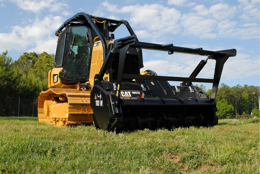 Cat D3K2 Mulcher Features Durable, Productive Design with Operator Safety and Comfort as Priorities