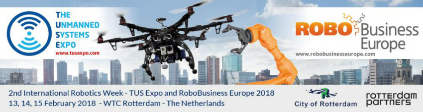 Rotterdam is the location of RoboBusiness Europe and TUS Expo 2018