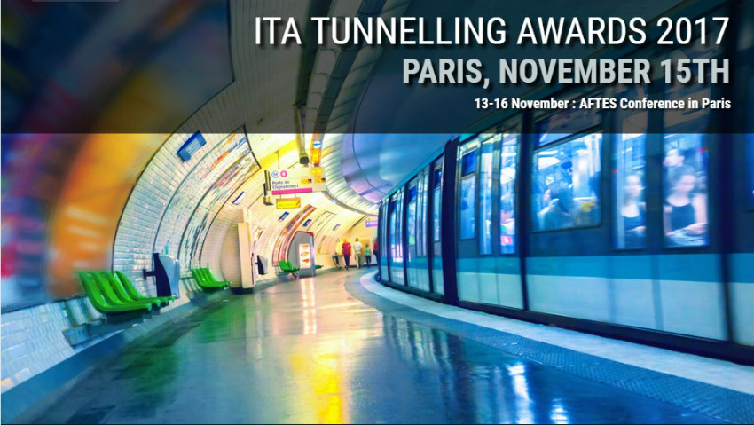 Finalists of the nine categories for the ITA Tunnelling Awards 2017