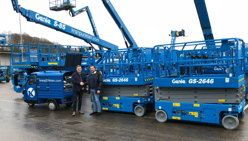 Kranpunkten AB orders 173 more Genie machines