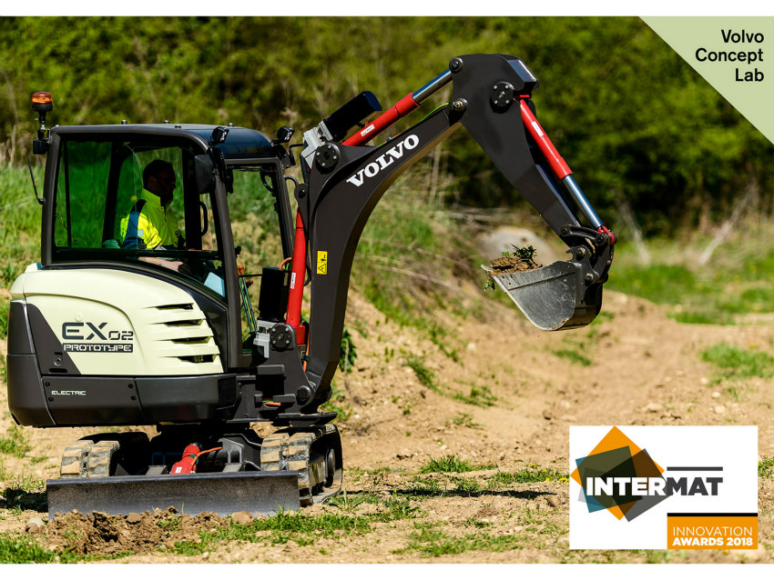 Volvo CE's EX2 prototype wins Intermat Innovation Award