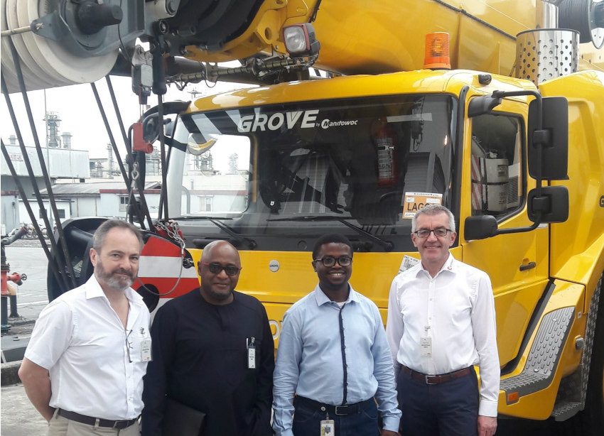 Nigerian natural gas plant adds two Grove GMK5130-2 cranes