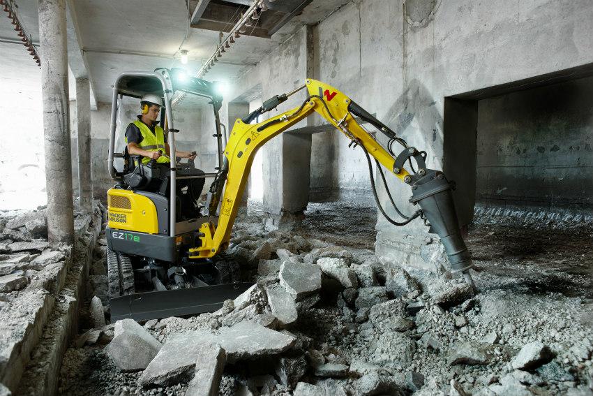 Wacker Neuson unveils first battery-powered, Zero Tail mini excavator: EZ17e