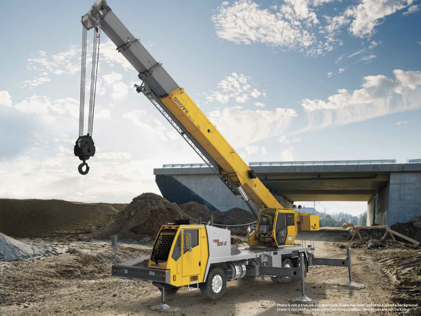 Manitowoc debuts the Grove TMS500-2 truck crane at Crane Days 2018