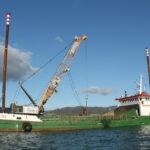 Liebherr duty cycle crawler crane HS 8130 HD at the Port of Vado Ligure