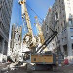 Metro Expansion in Milan: Liebherr Duty Cycle Crawler Crane and Grab