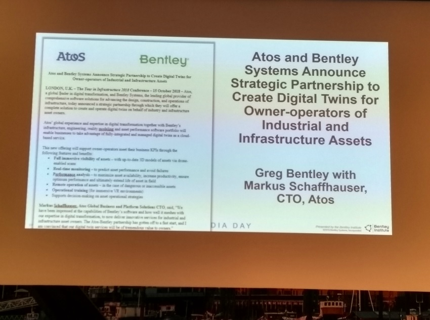 Atos and Bentley Systems announce strategic partnership to create Digital Twins
