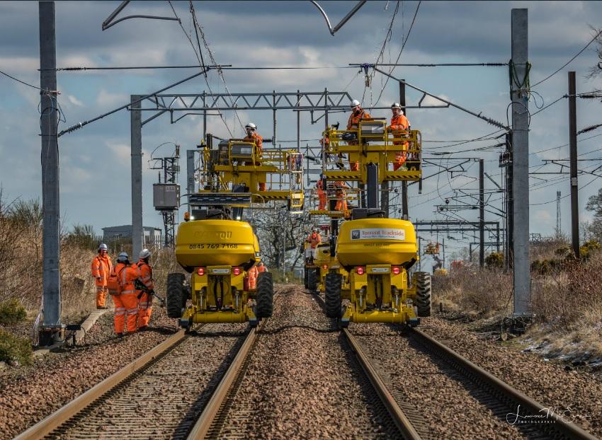 Shotts Line electrification goes live