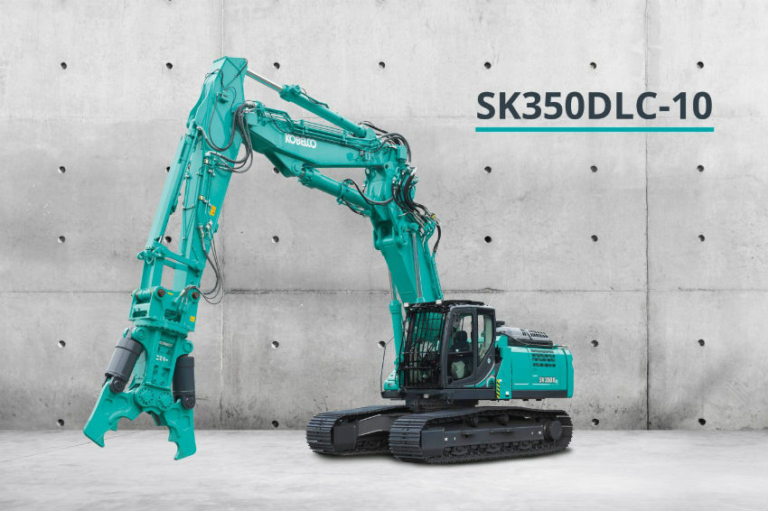 Kobelco launches its smallest demolition machine in Europe: SK350DLC-10