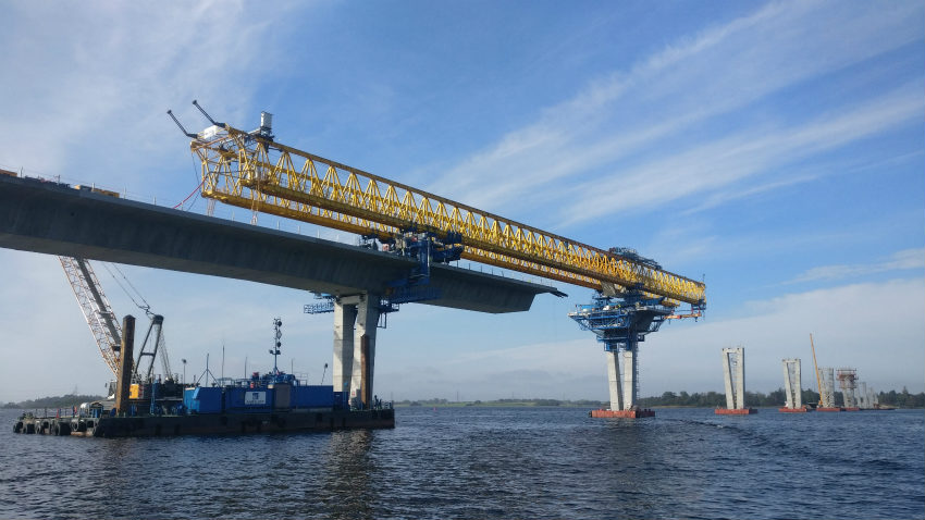 ACCIONA Construction and partners complete substructure of Roskilde Fjord Bridge in Denmark