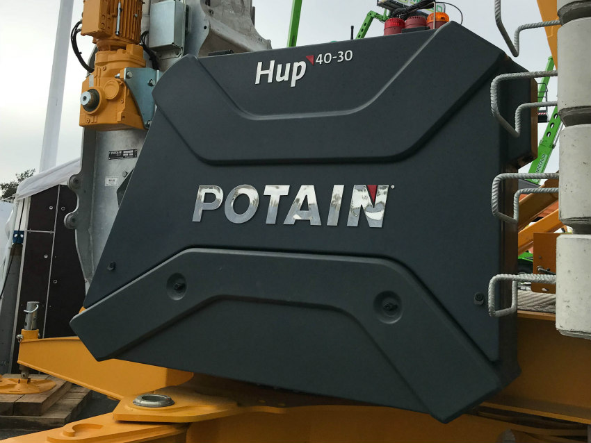Potain showcased its Hup and Igo self-erecting cranes at ARTIBAT 2018