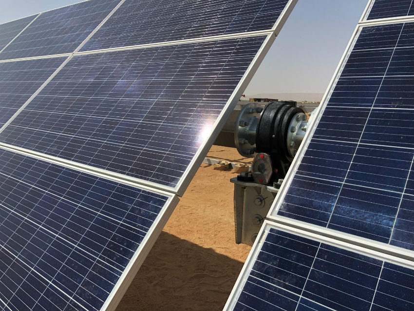 Solar trackers Monoline at the forefront of wind protection technology