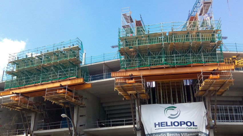 ULMA on the construction project of the new Grandstands in The Benito Villamarín Stadium