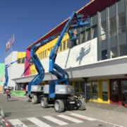 Three hybrid Genie Z-60/37 FE booms perform on paint job in Germany