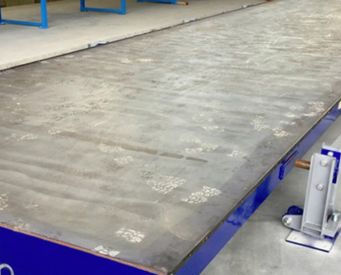 Moldtech installs a special fixed table for predalle in France