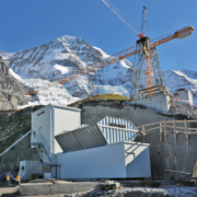 A Liebherr Compactmix 1.0 operates at an altitude of 2,340 metres