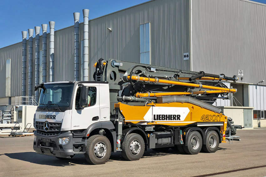 42 M5 XXT truck mounted concrete pump with a completely new drive unit