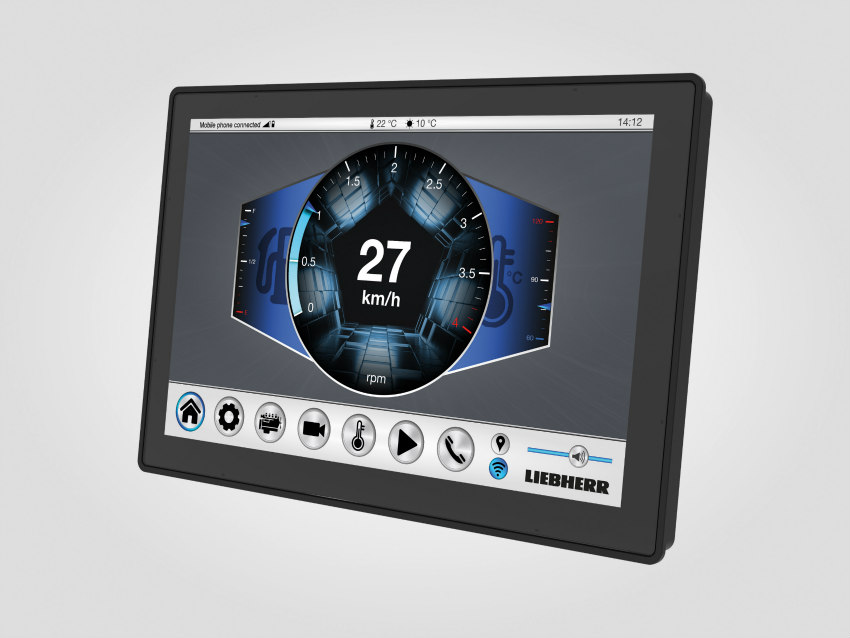 Liebherr presents its new generation display controller: DC5 family
