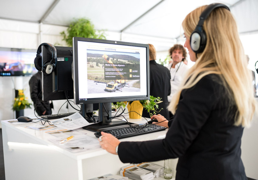 E-learning: Liebherr explores new way for training mobile crane operators