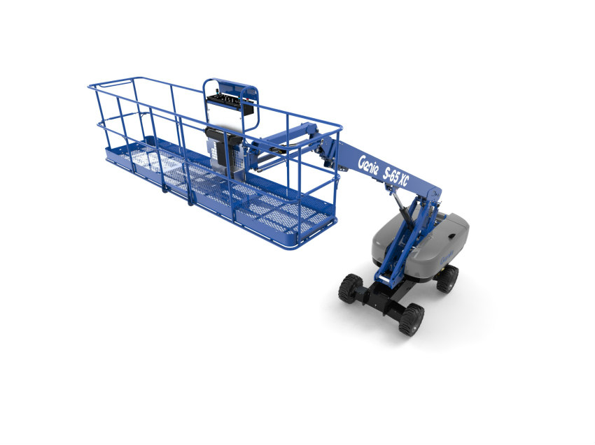 Genie 4 m (13 ft) Platform and productivity tools at Bauma 2019