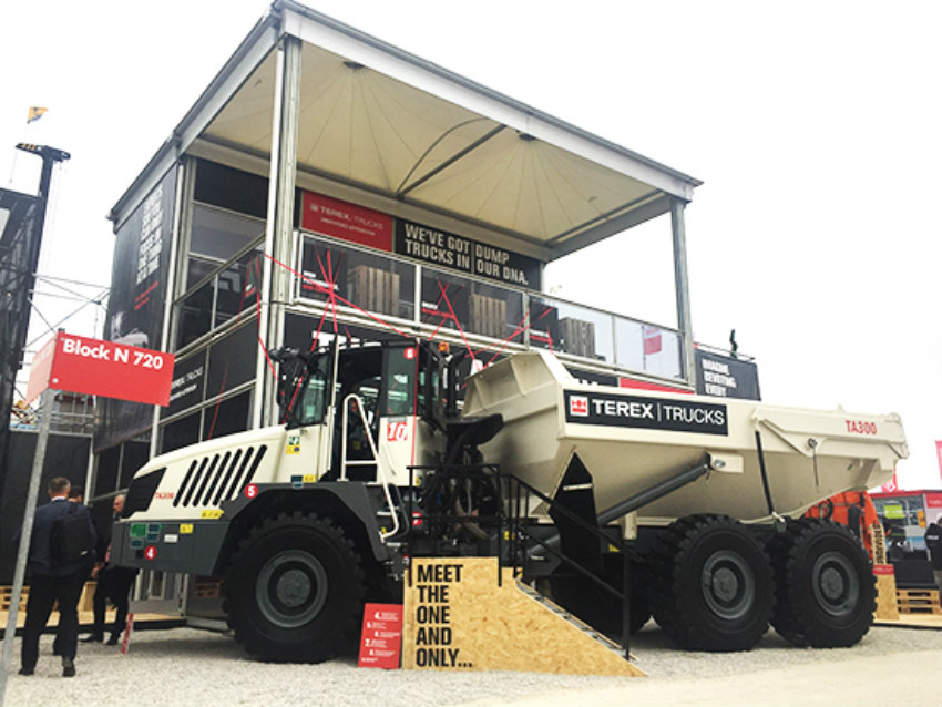 Terex Trucks' updated TA300 made international trade show debut at bauma 2019