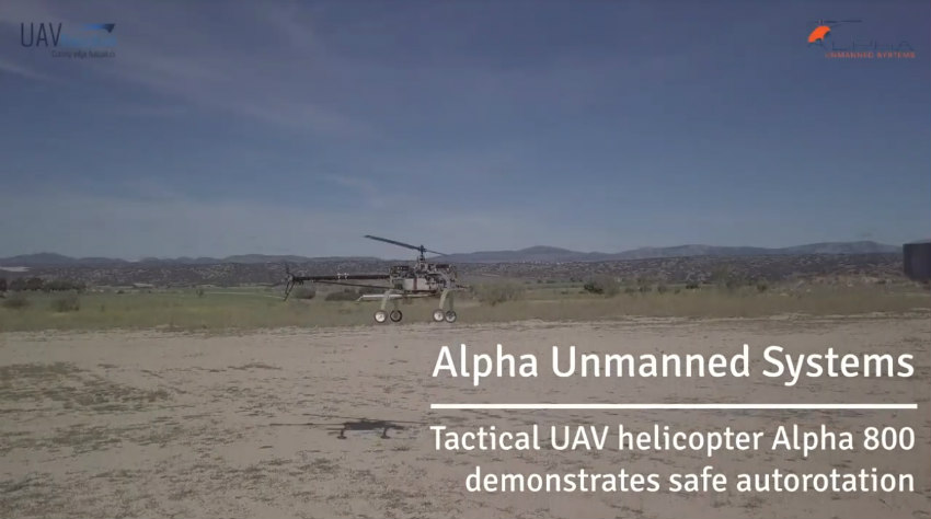 Fully automatic autorotation on the Alpha 800 platform