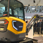 Volvo's new electric ECR25 helps build the Morgan Stanley Garden at iconic RHS Chelsea Flower Show
