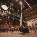 Spider lift xtj 52/c working at St. Pancras international station – London