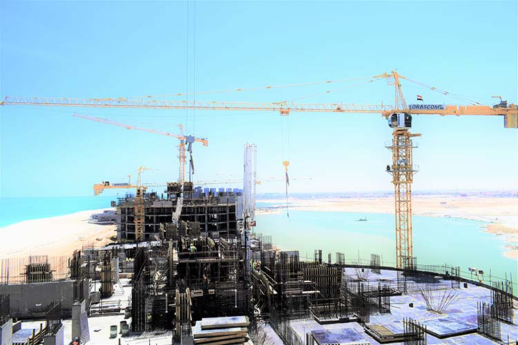 IDP supplies over 35 Potain cranes for major new development in Egypt