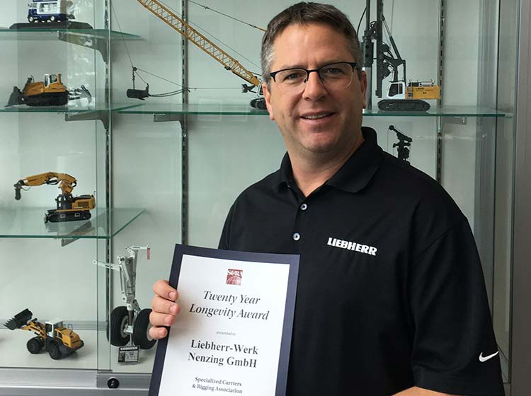 Liebherr recognized for Support & Dedication with Longevity Award