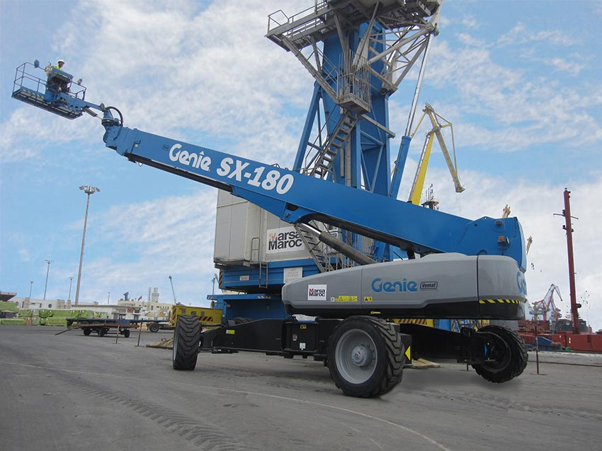 55-m (180-ft) boom lift chosen for heavy Port maintenance, Morocco