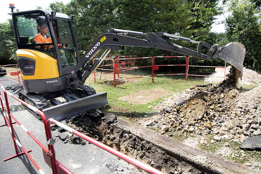 First VOLVO electric compact excavator arrives at customer site
