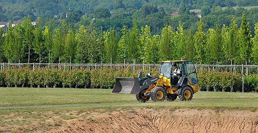 First Volvo electric compact wheel loader a success for German tree farm