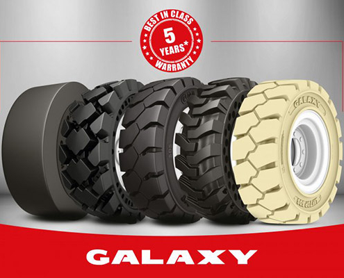 New 5 Year Warranty for the Entire Galaxy Solid Tire Range