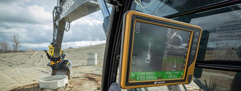 Topcon machine control provide full portfolio for all earthmoving projects