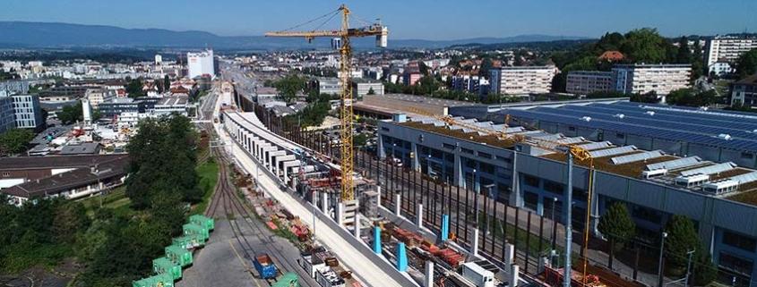 Three Potain Hup C 40-30 cranes on Swiss railway project